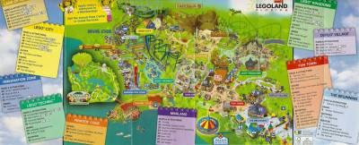 Photo illustrating <font size=1>LEGOLAND Florida Park Map