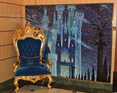 Sleeping Beauty Castle Graces The Lobby Of The Disney