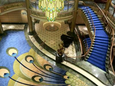 The Atrium Lobby of the Disney Fantasy photo
