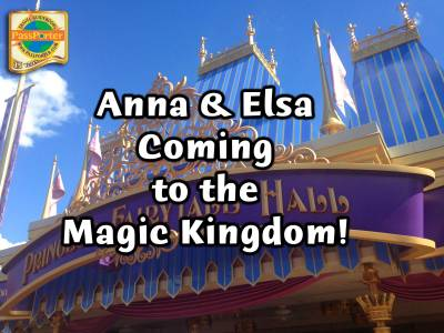 Photo illustrating Anna and Elsa Moving to Magic Kingdom!