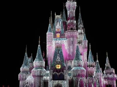 Photo illustrating <font size=1>Cinderella Castle