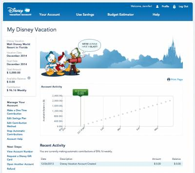 Photo illustrating Save Money for a Disney Vacation!
