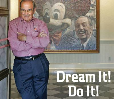 Photo illustrating Marty Sklar Book Cover
