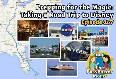 Photo illustrating Podcast Episode 267 - PassPorter Moms Podcast