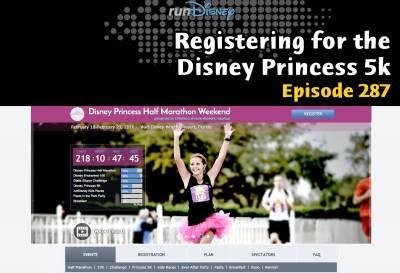 Photo illustrating Registering for the Disney Princess 5k