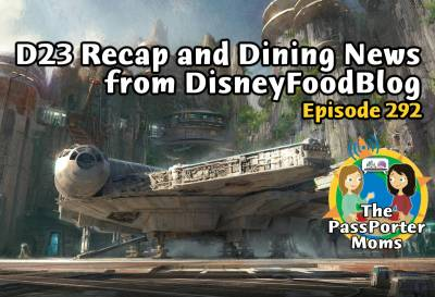 Photo illustrating D23 Recap and Disney Dining News from DisneyFoodBlog