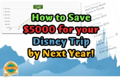 Photo illustrating <font size=1>Save Money for a Disney Vacation!