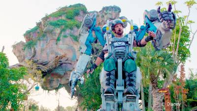 Photo illustrating Exo-Carrier Utility Suit at Disneys Animal Kingdom