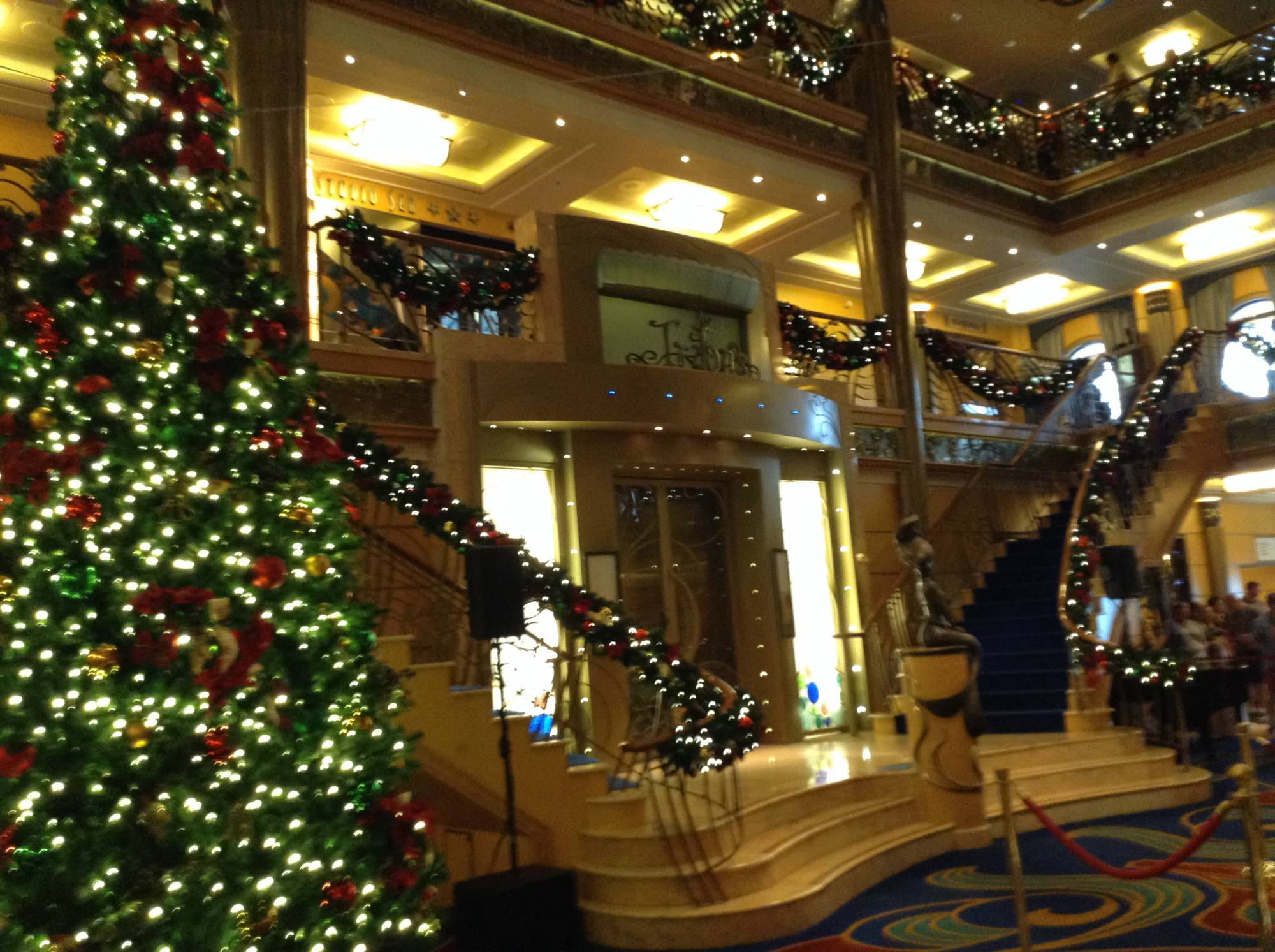 enjoy a very merrytime cruise at the holidays onboard the disney cruise line - When Do Cruise Ships Decorated For Christmas