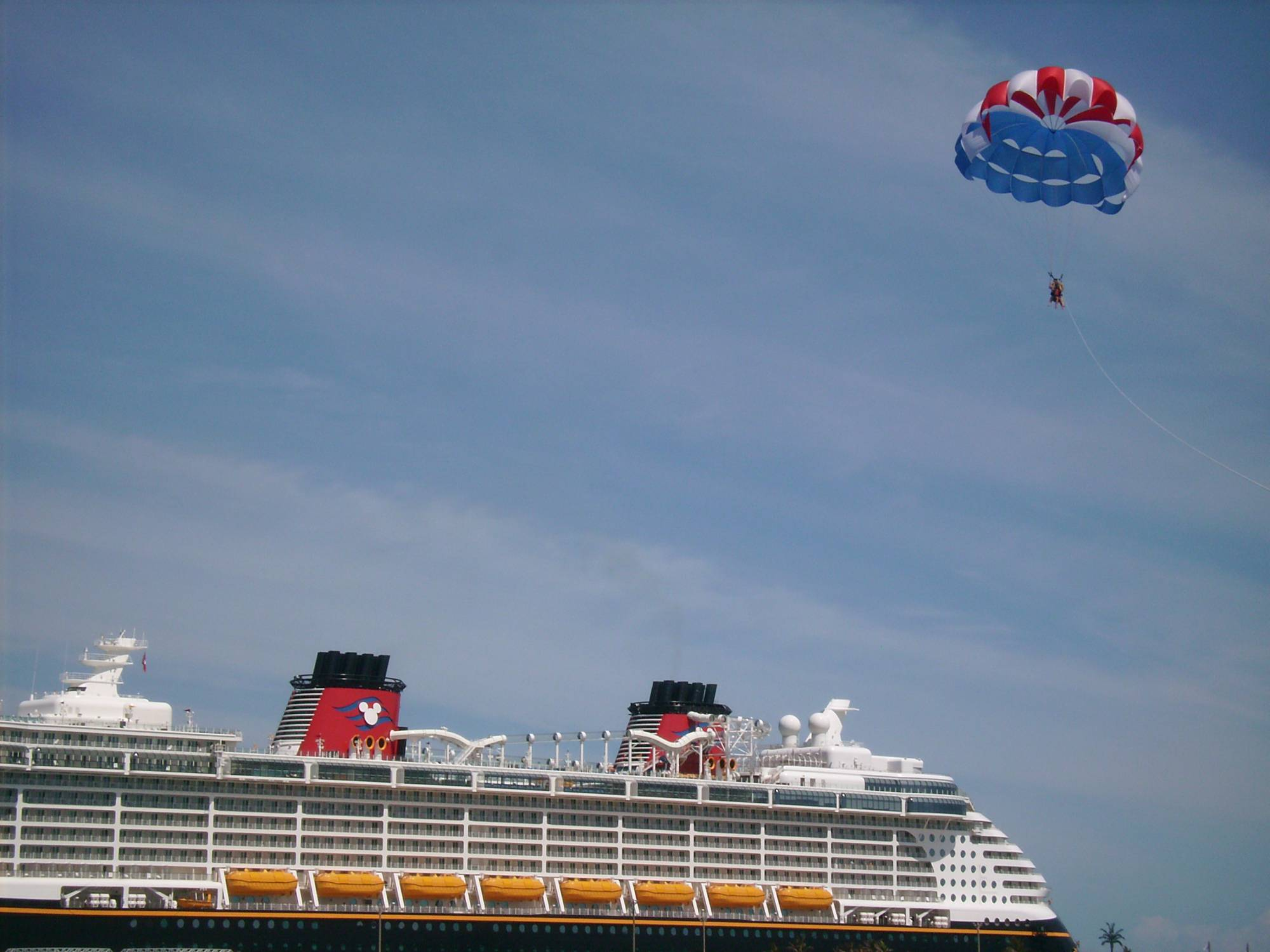Enjoy a fantastic view of Castaway Cay while Parasailing | PassPorter.com