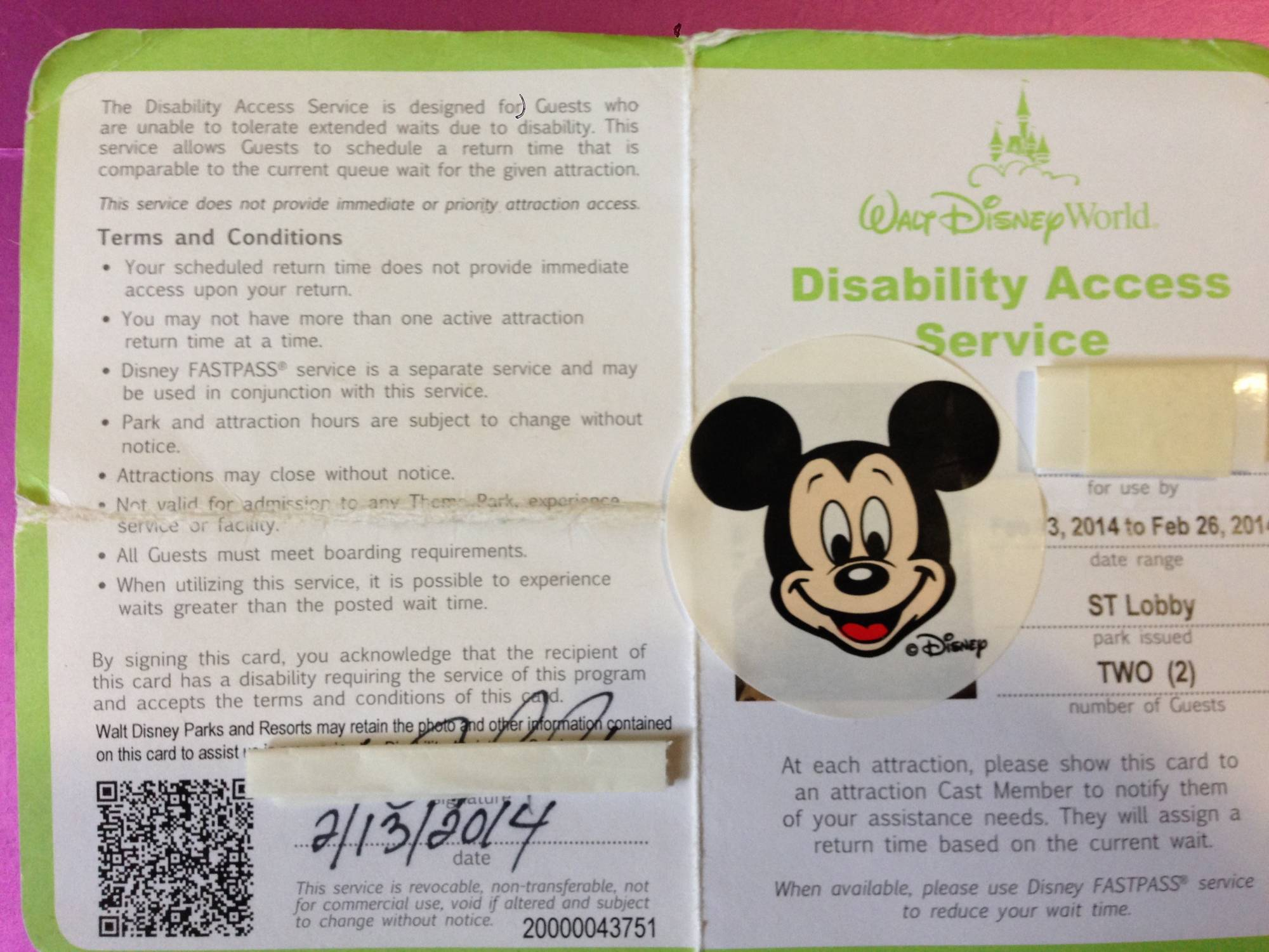 Learn more about the DAS (Disability Access Card) for Walt Disney World guests with special needs |PassPorter.com
