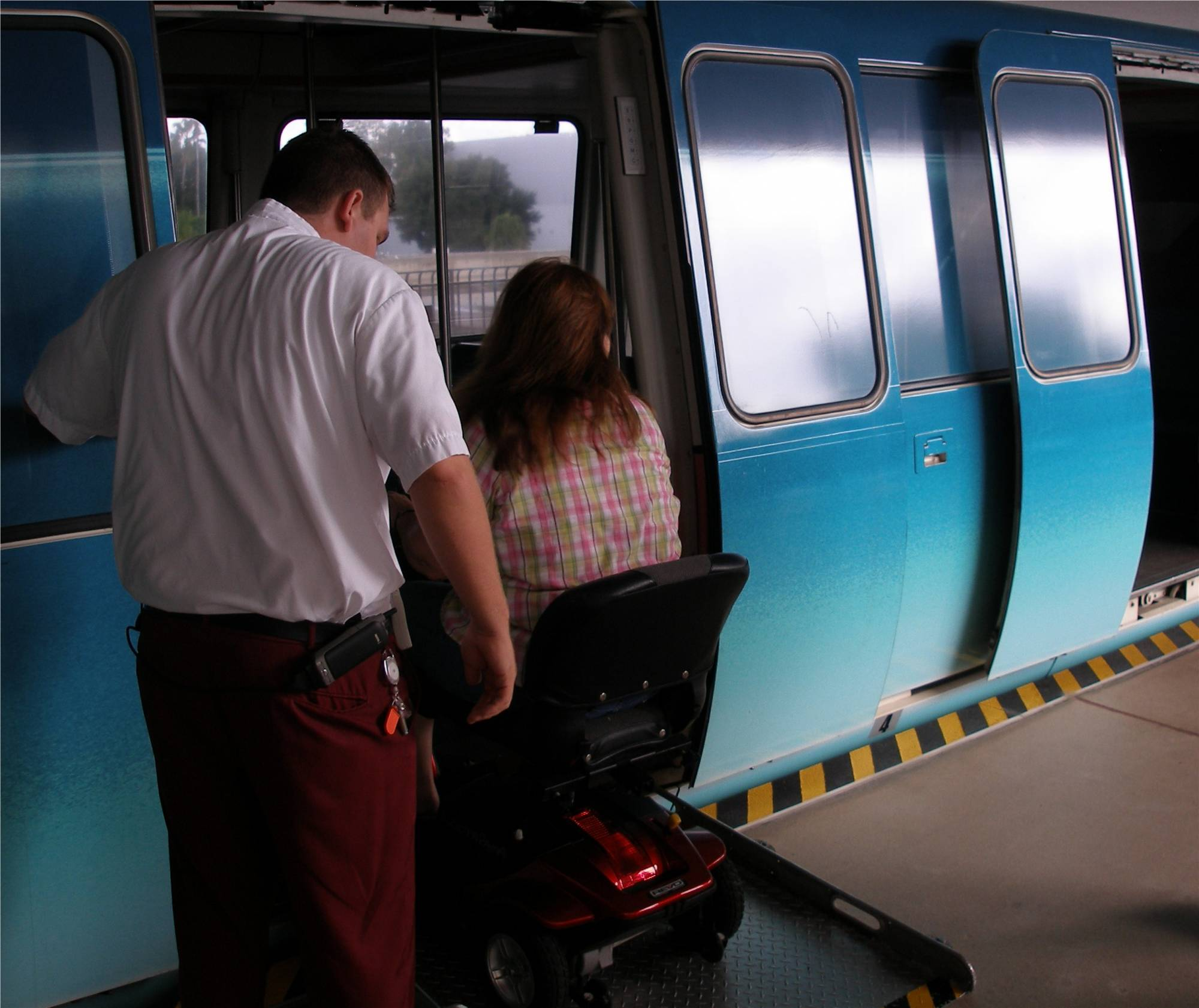 Getting on the Monorail photo