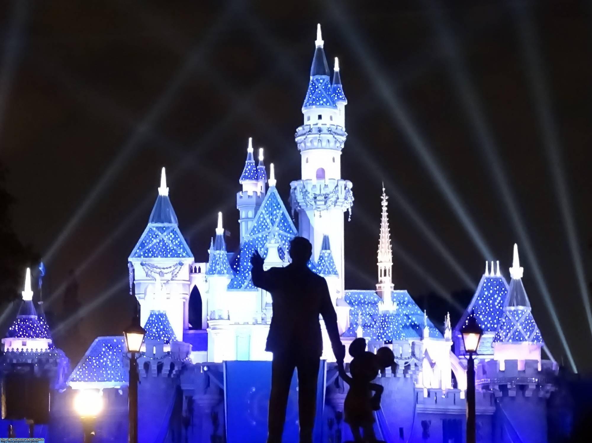 Disneyland - Sleeping Beauty Castle at night photo