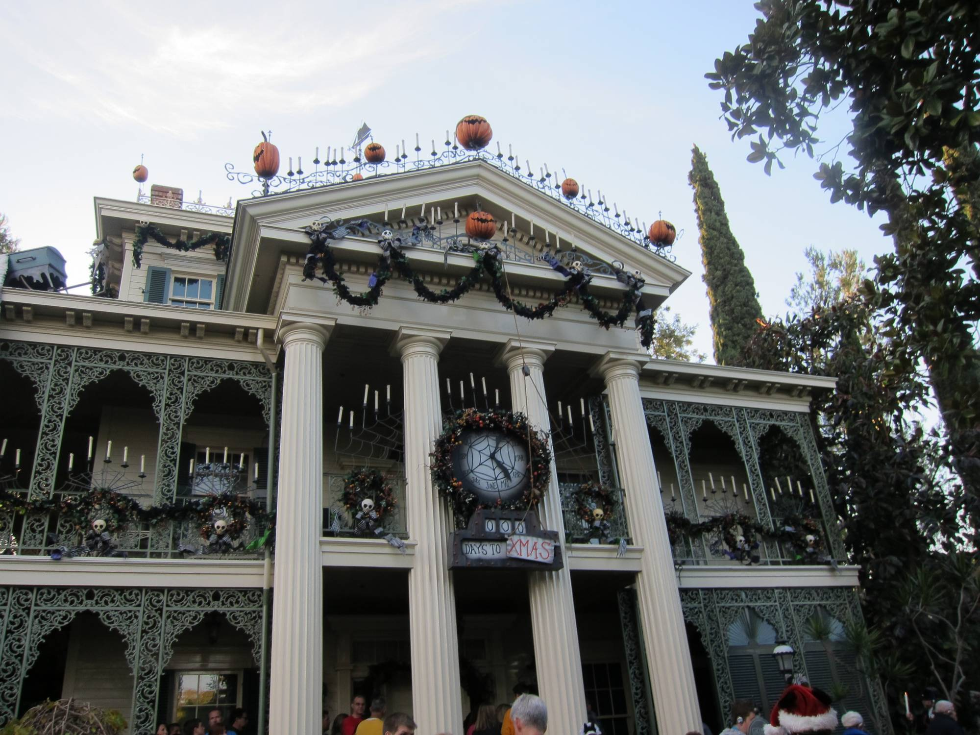 Disneyland Christmas Haunted Mansion photo