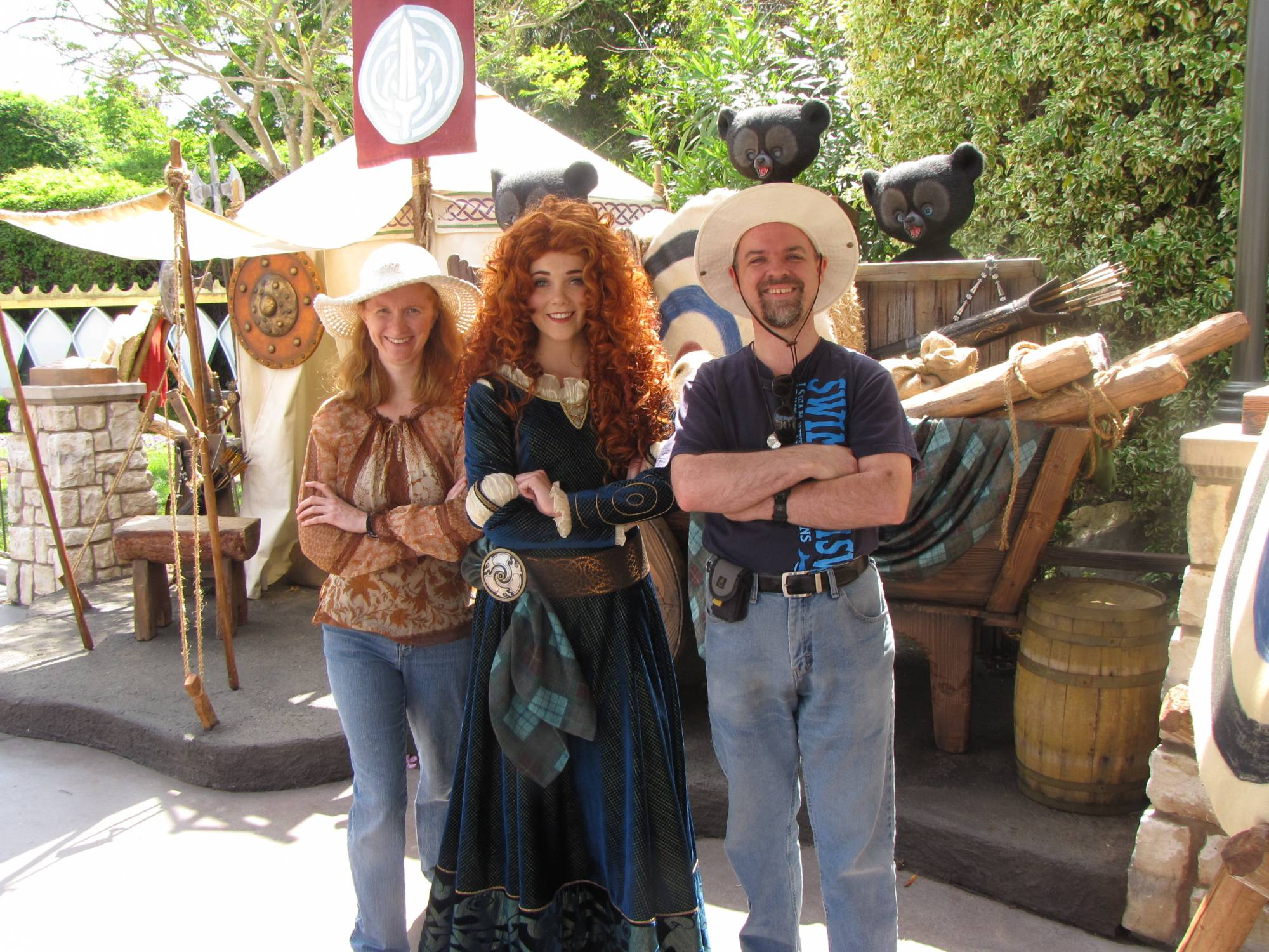 Meet Princess Merida from Brave at Disneyland |PassPorter.com