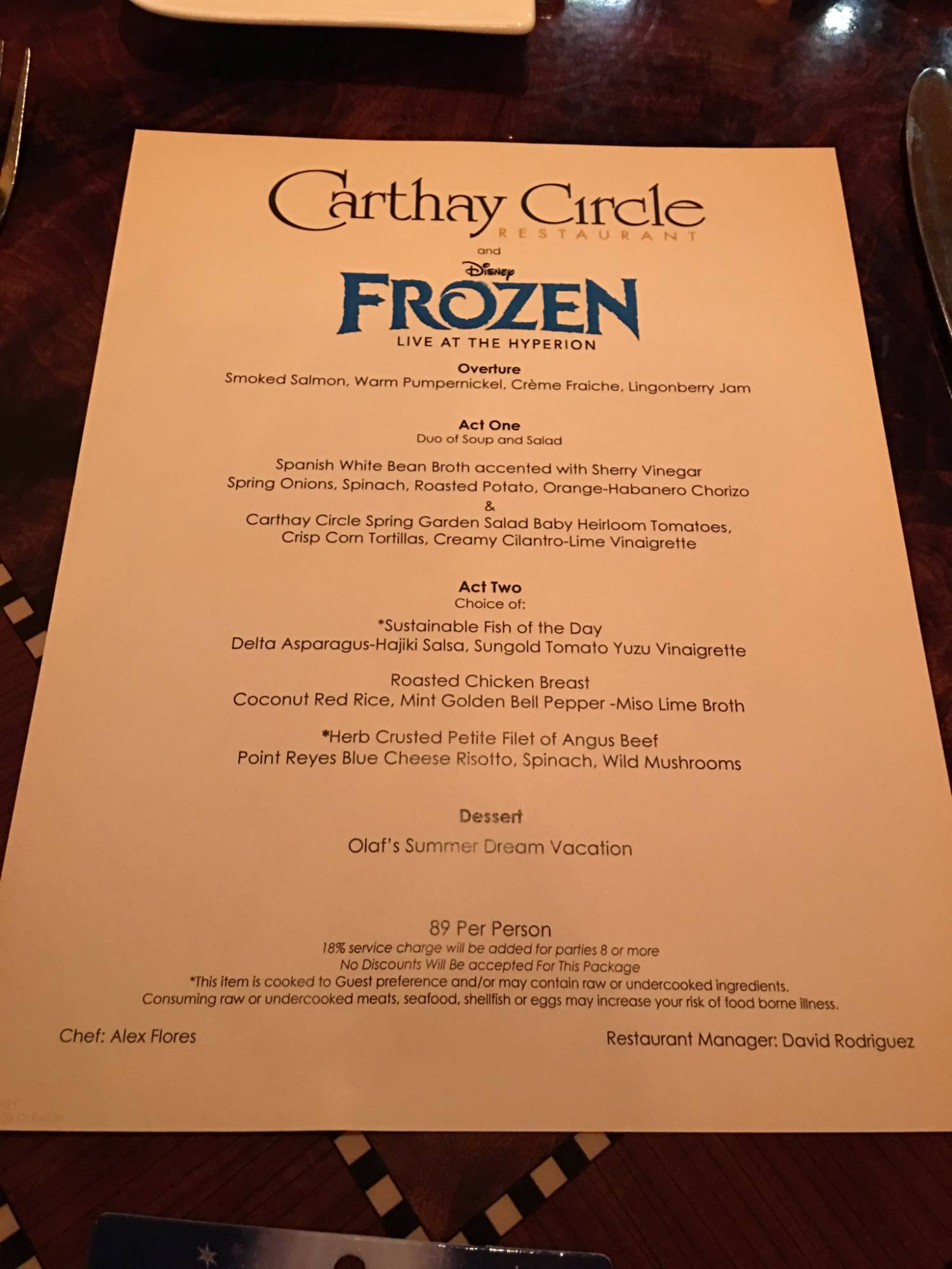 Enjoy lunch at Carthy Circle with the Frozen Dining Package |PassPorter.com