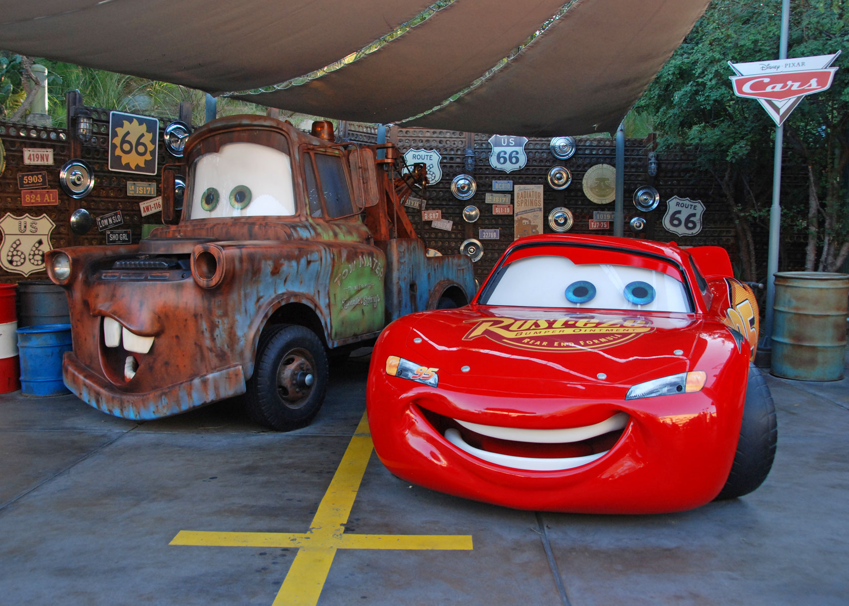 California Adventure - Lightning McQueen and Mater photo