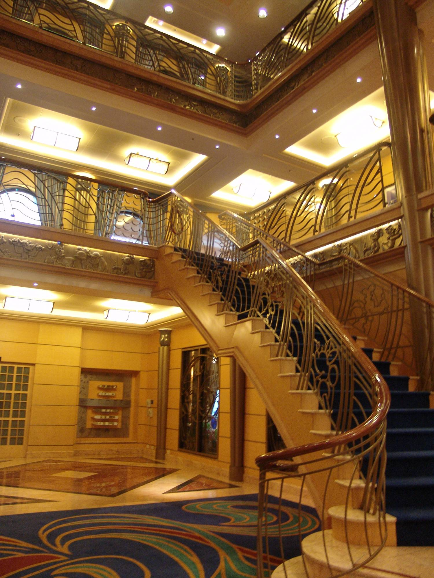 Disney Wonder - atrium stairs photo