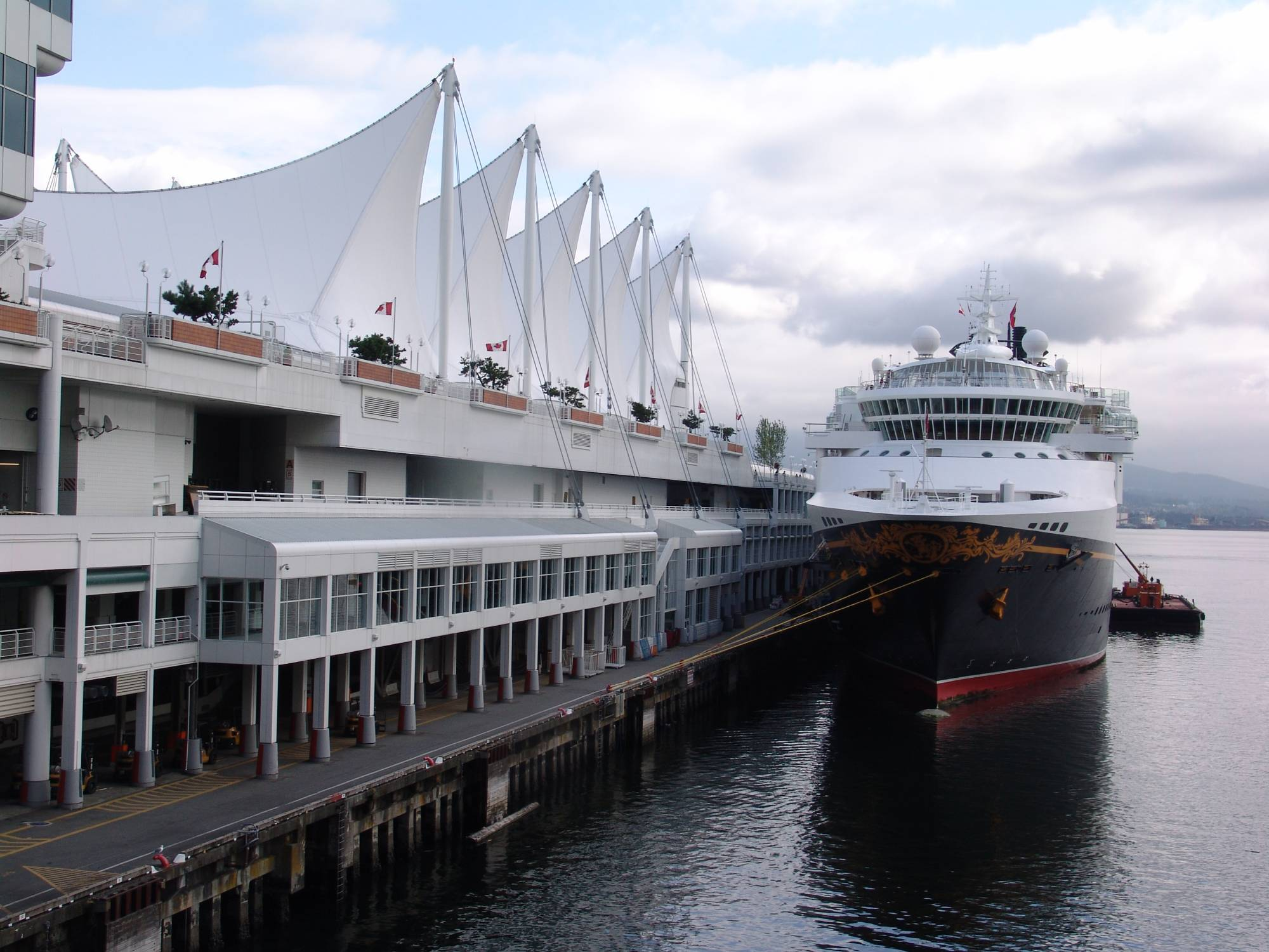 Alaskan cruise - Wonder moored at Vancouver photo