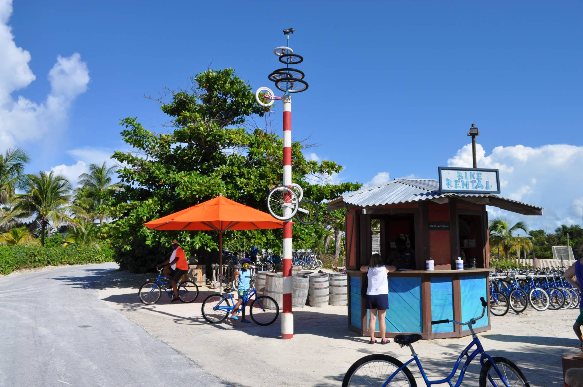 Explore Castaway Cay by bike |PassPorter.com