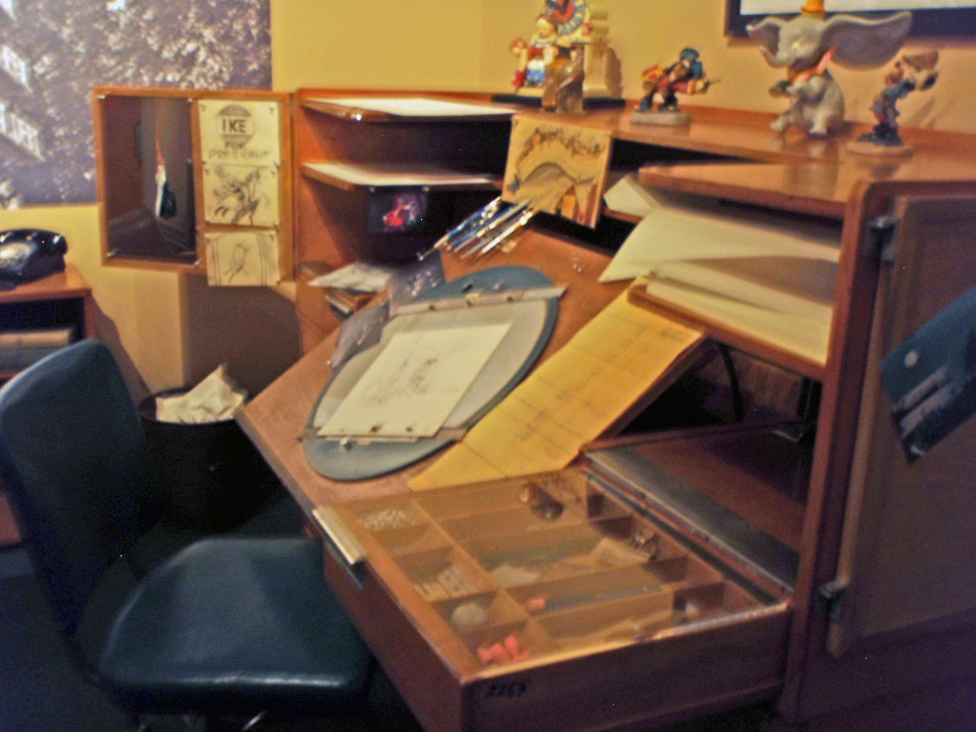 Gerri 1959 Walts drawing desk @ the Treasures of Walt Disney photo
