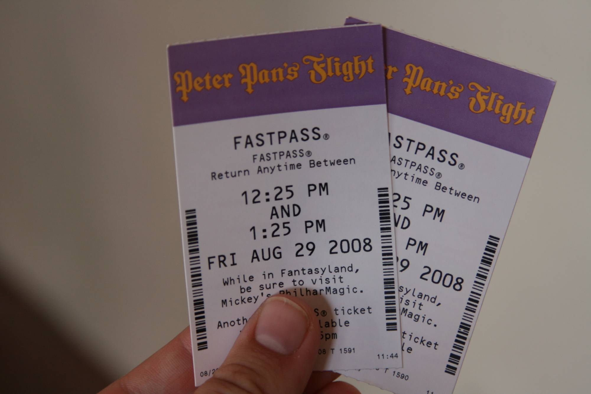 Magic Kingdom - Peter Pan's Fastpass Tickets photo