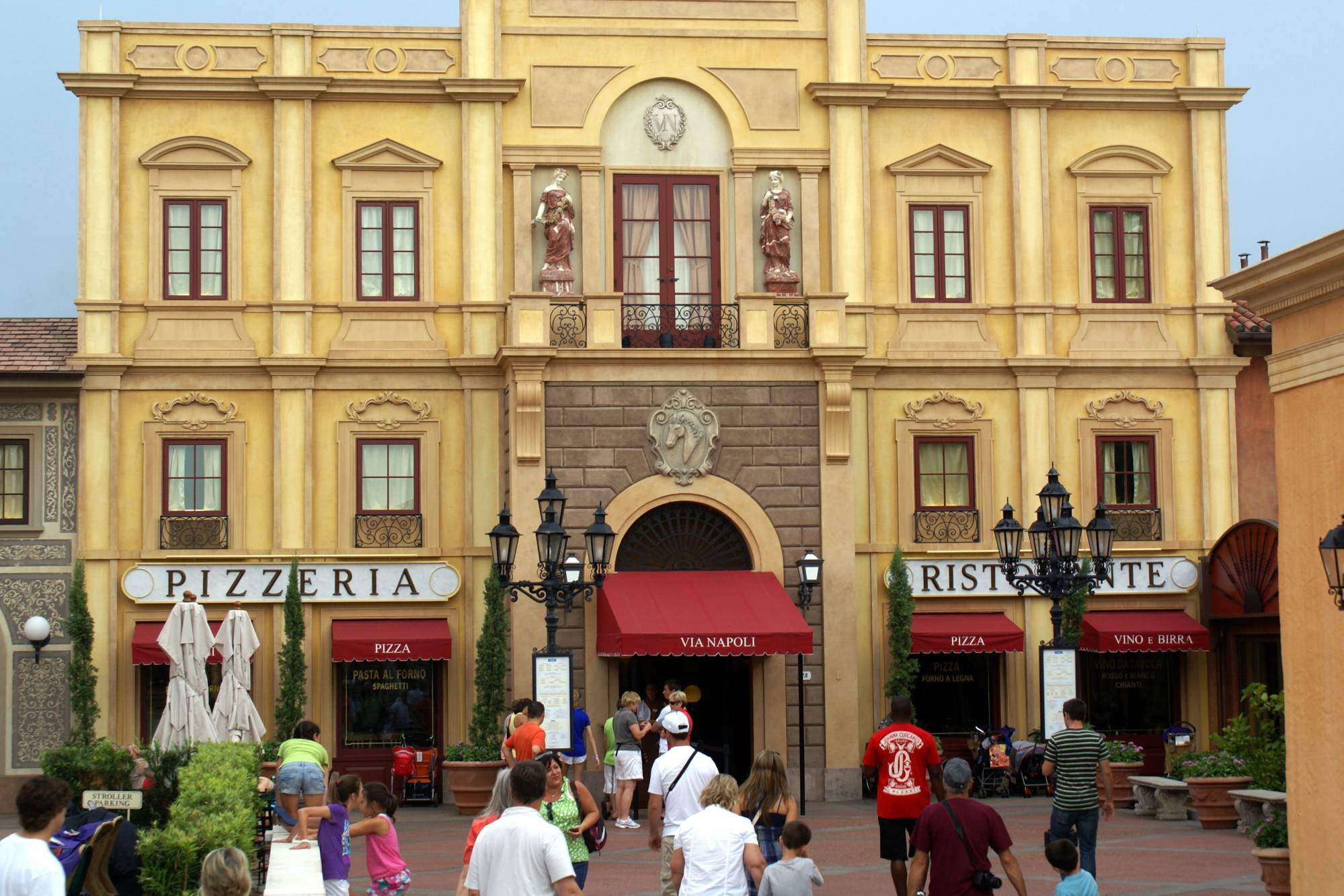 Enjoy a drink and a meal with friends or family at Tutto Gusto in Epcot |PassPorter.com