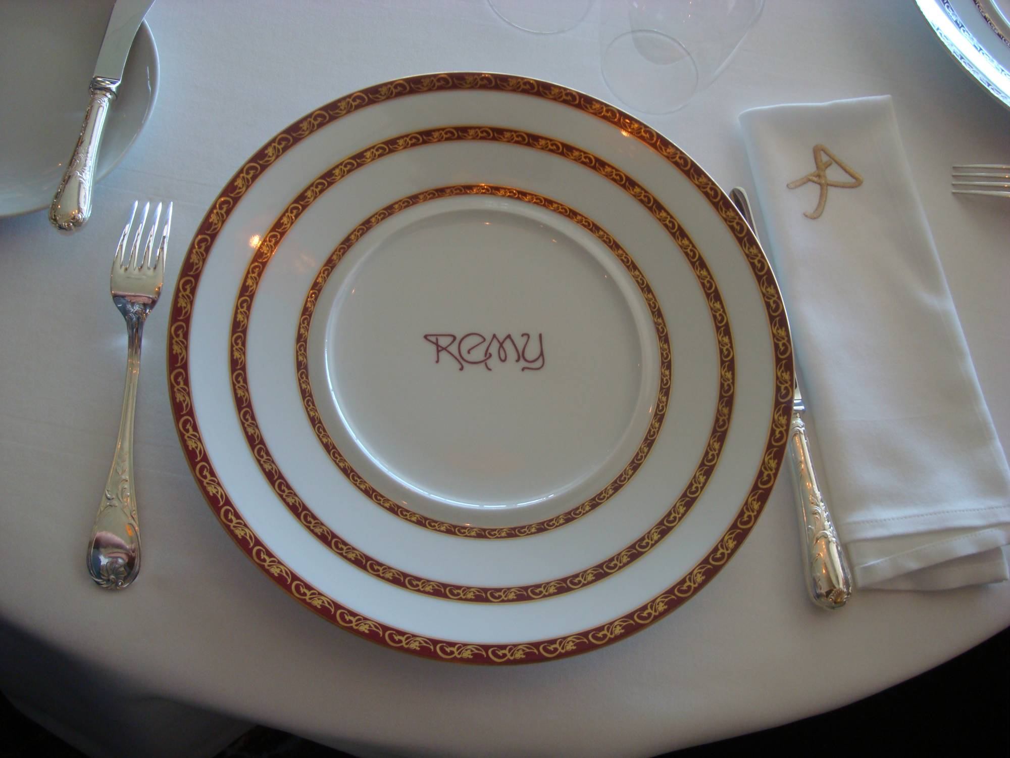 Disney Dream - Remy plate photo
