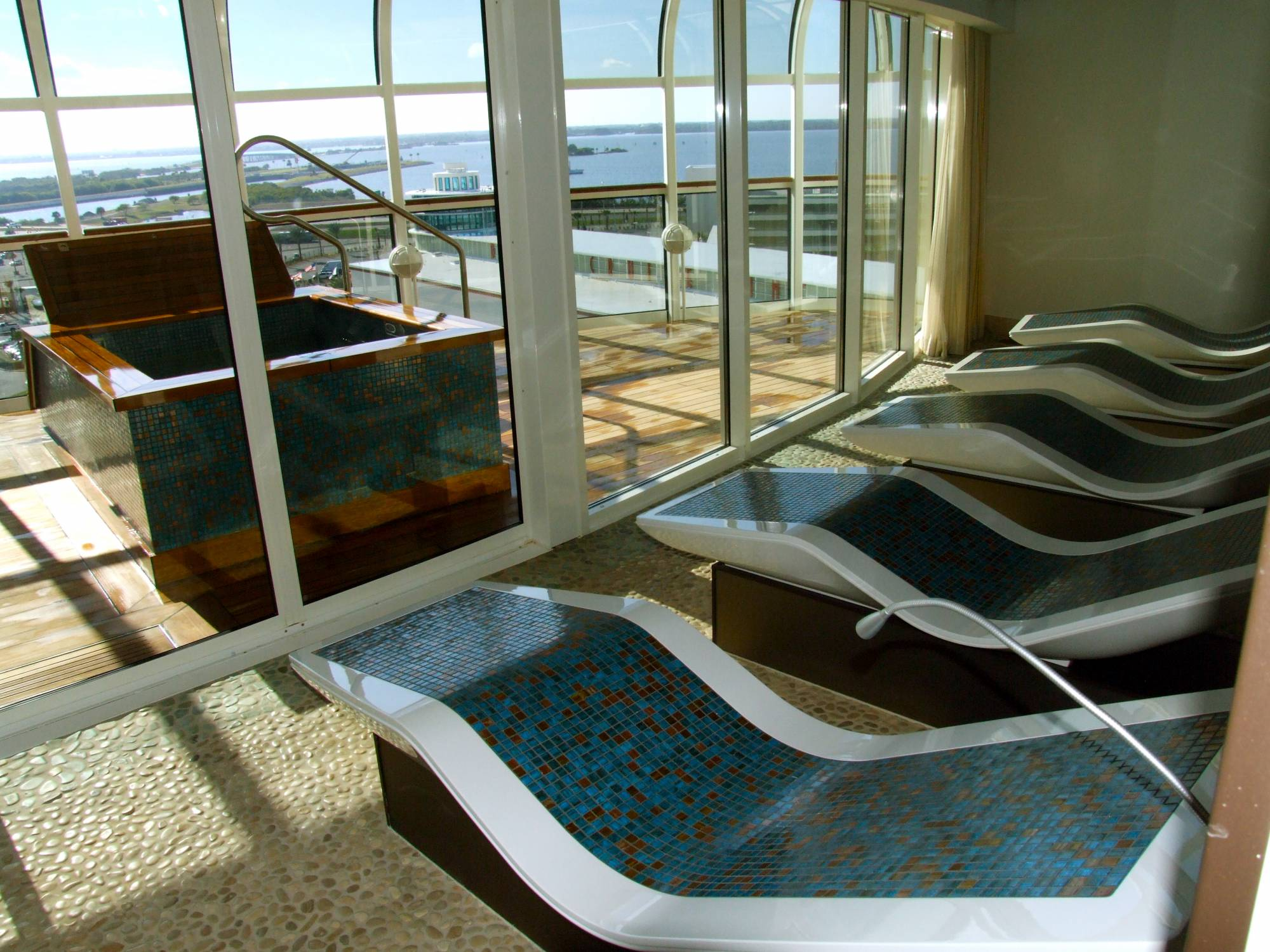 Rainforest Loungers at Senses Spa - Disney Dream photo
