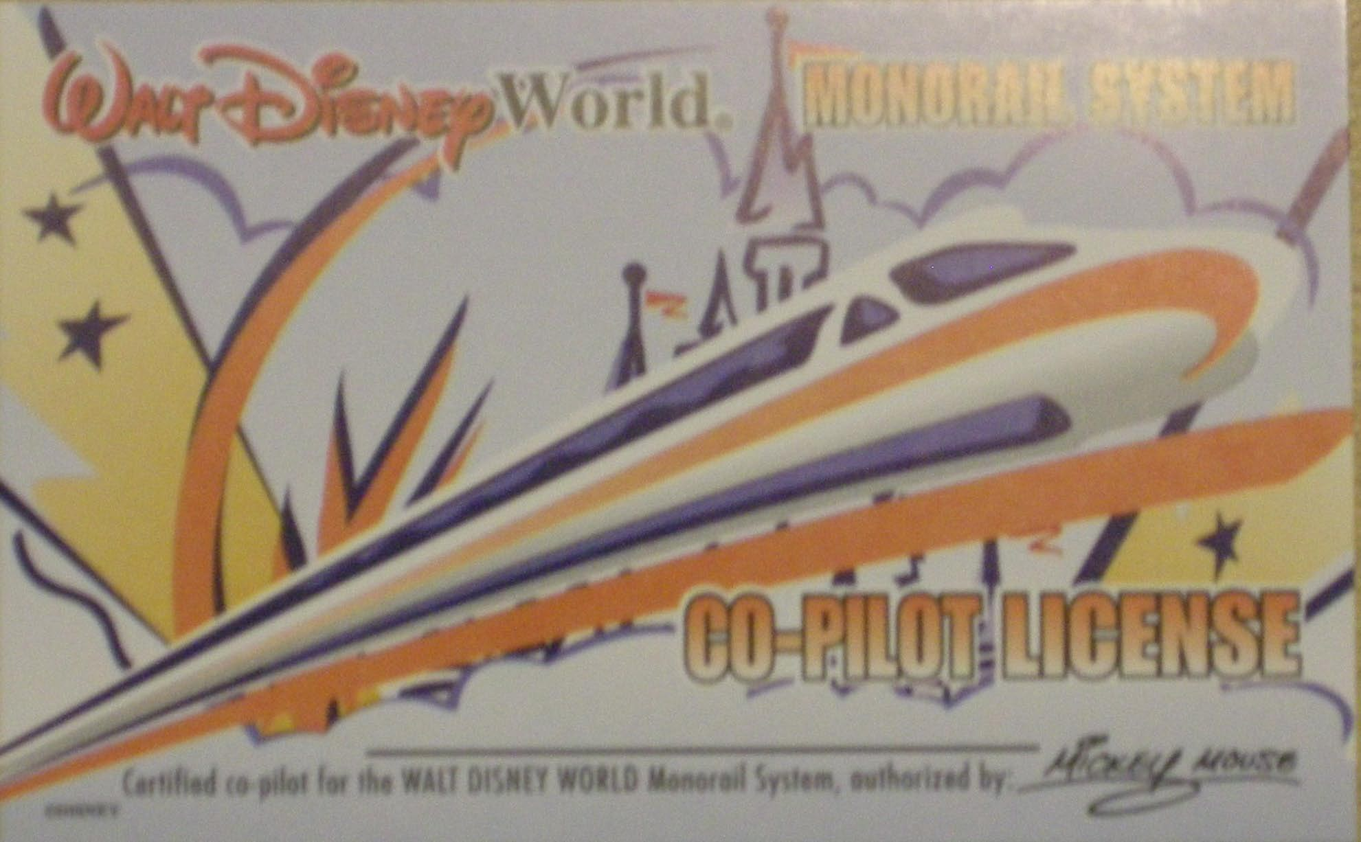 Monorail Co-Pilot-License