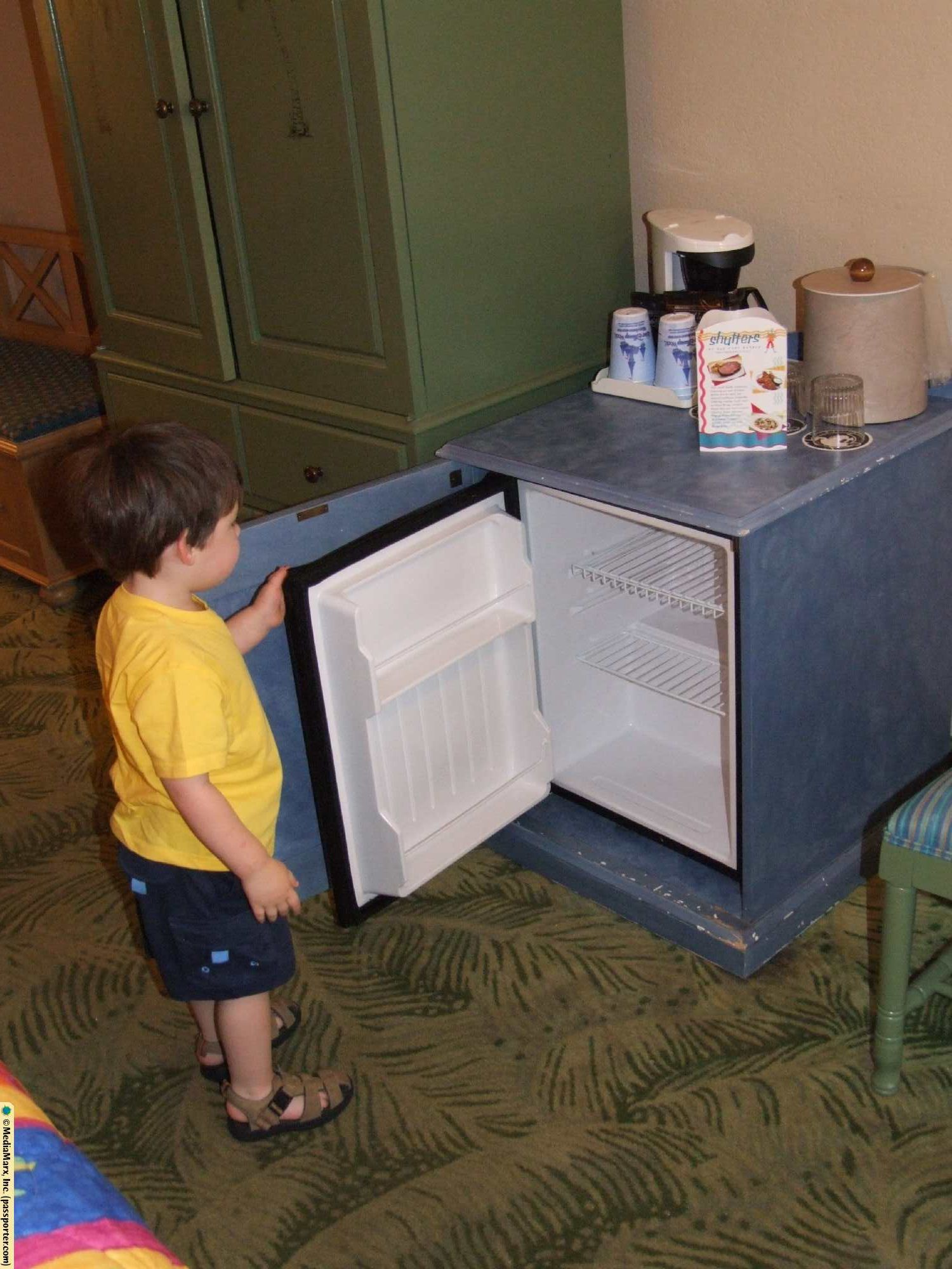Caribbean Beach Resort Guest Room - Refrigerator