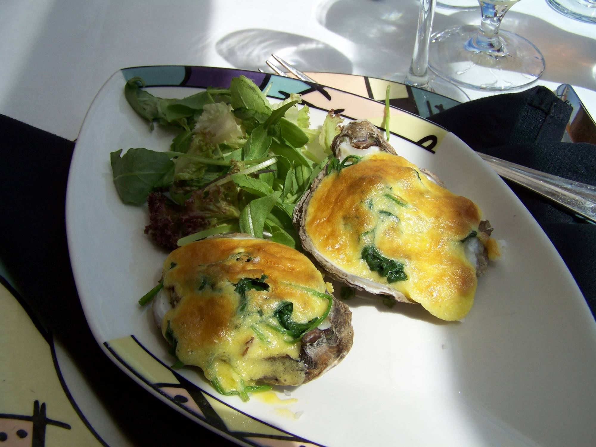 Oyster Rockefeller at Palo Brunch