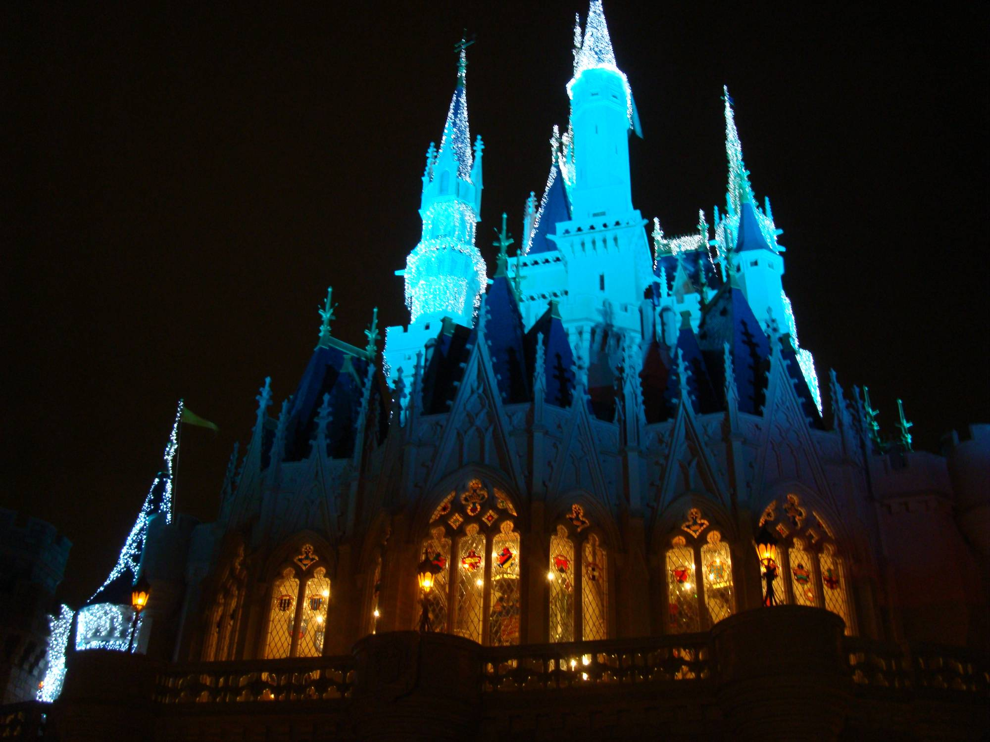 Magic Kingdom - Cinderella Castle at night
