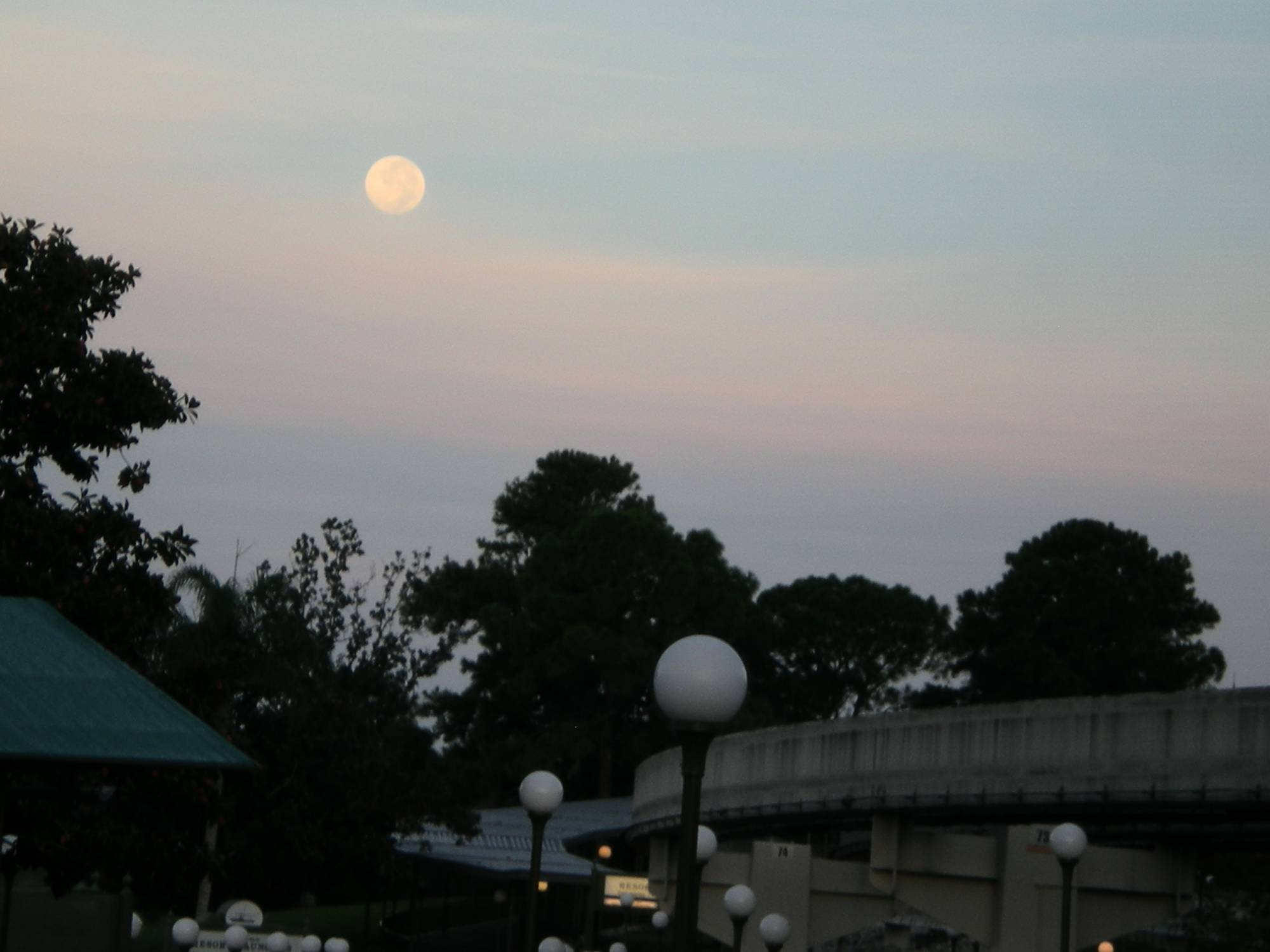 Moon over monorail