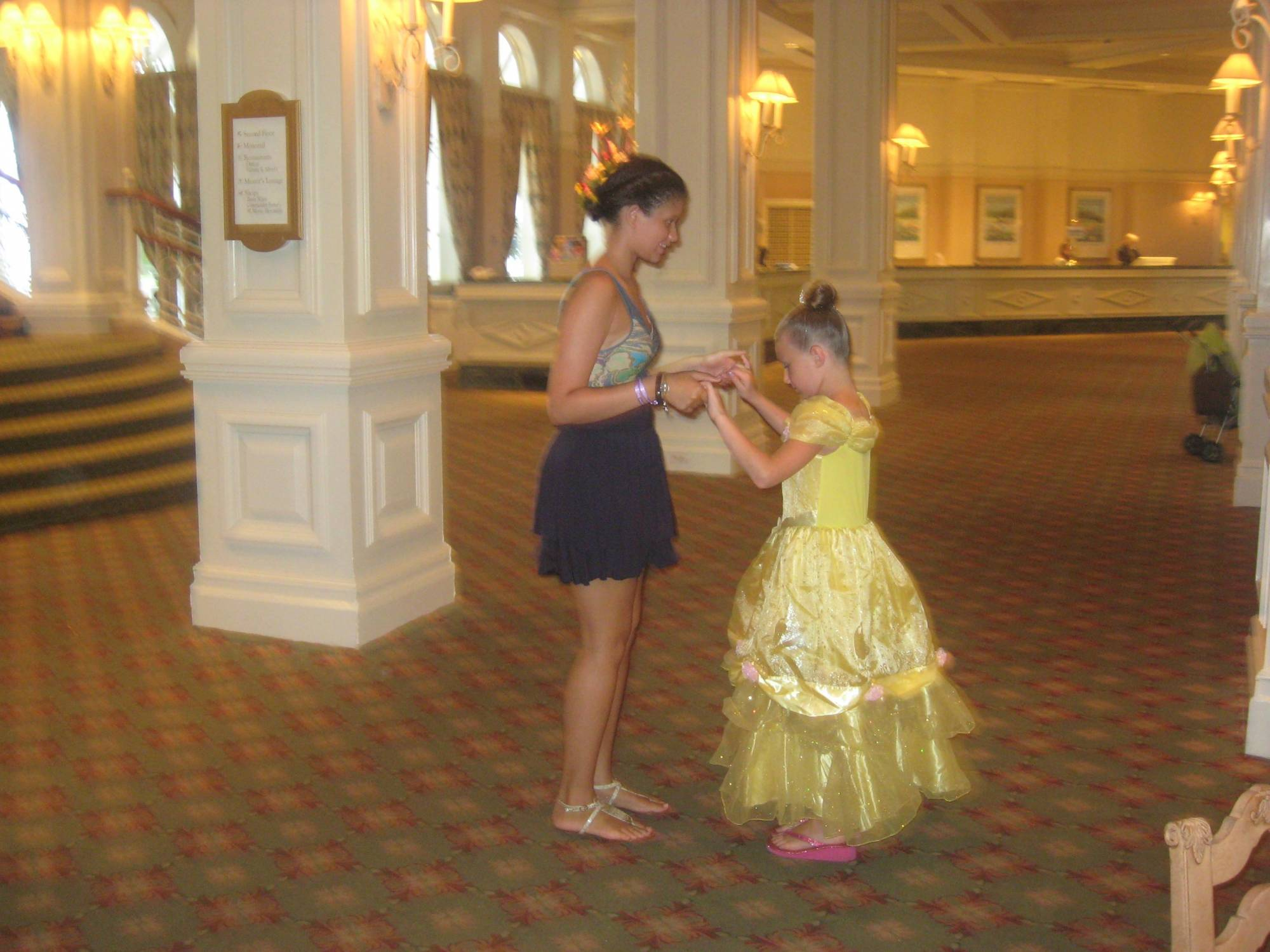 Grand Floridian - Practicing her waltz