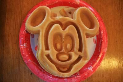 Port Orleans Riverside - Mickey Waffle!