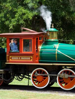 Magic Kingdom - Railroad train with conductor