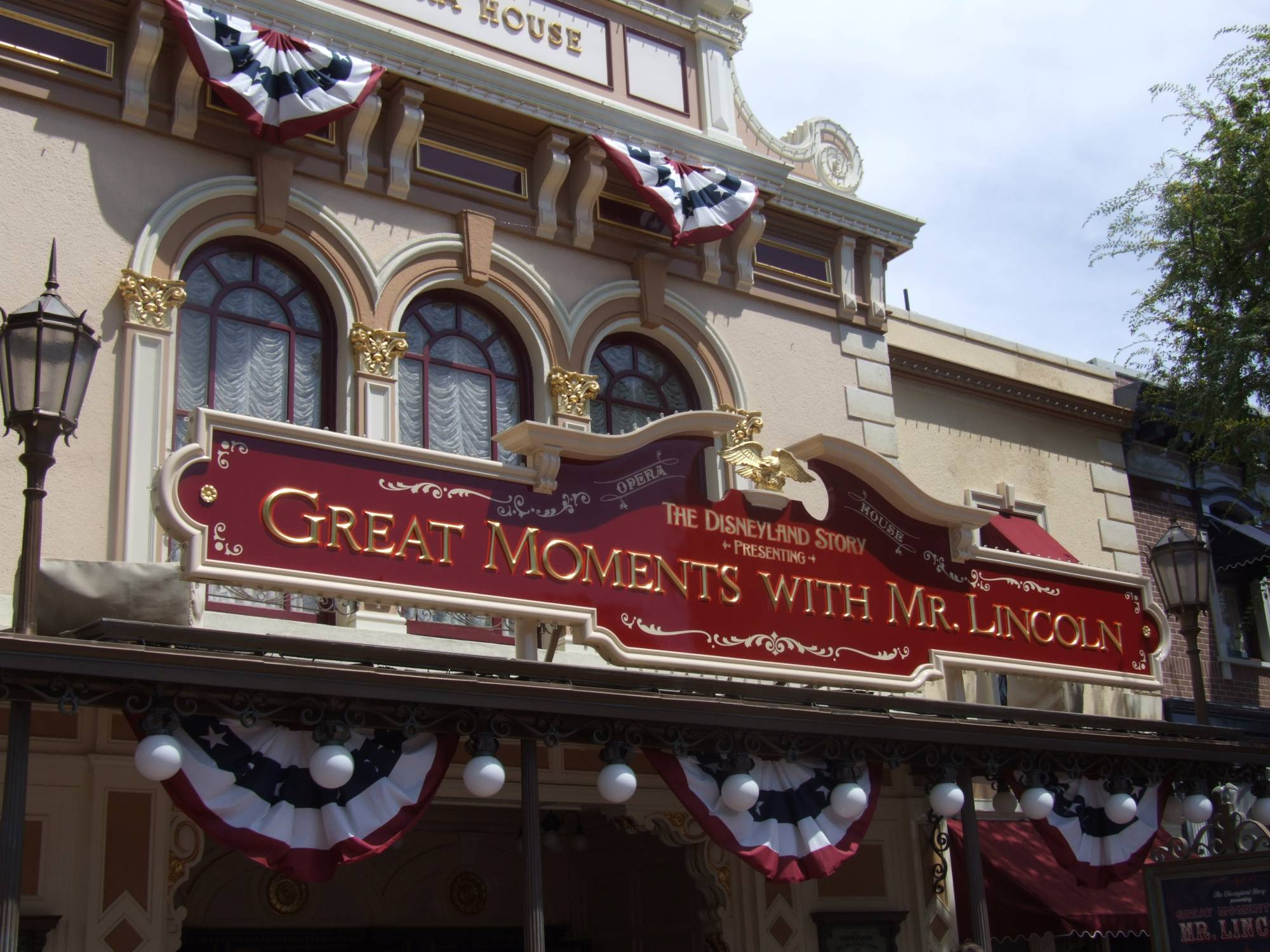 Disneyland Opera House Marquee -Great Moments