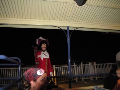 Capt Hook saying good-bye