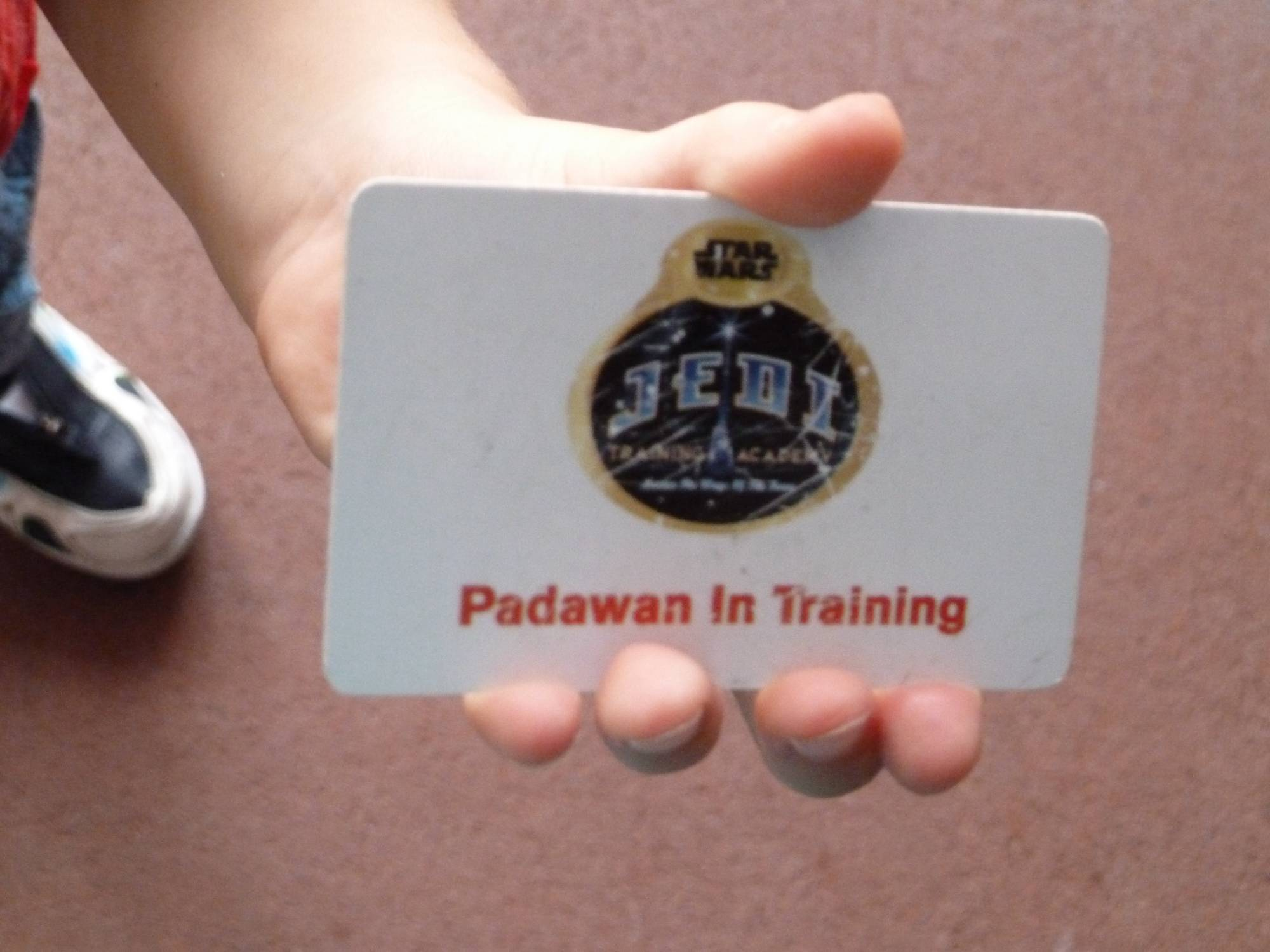 The Jedi Training Padwan Card
