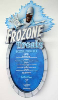 Disney Dream - Frozone Treats Smoothie/Beer Menu