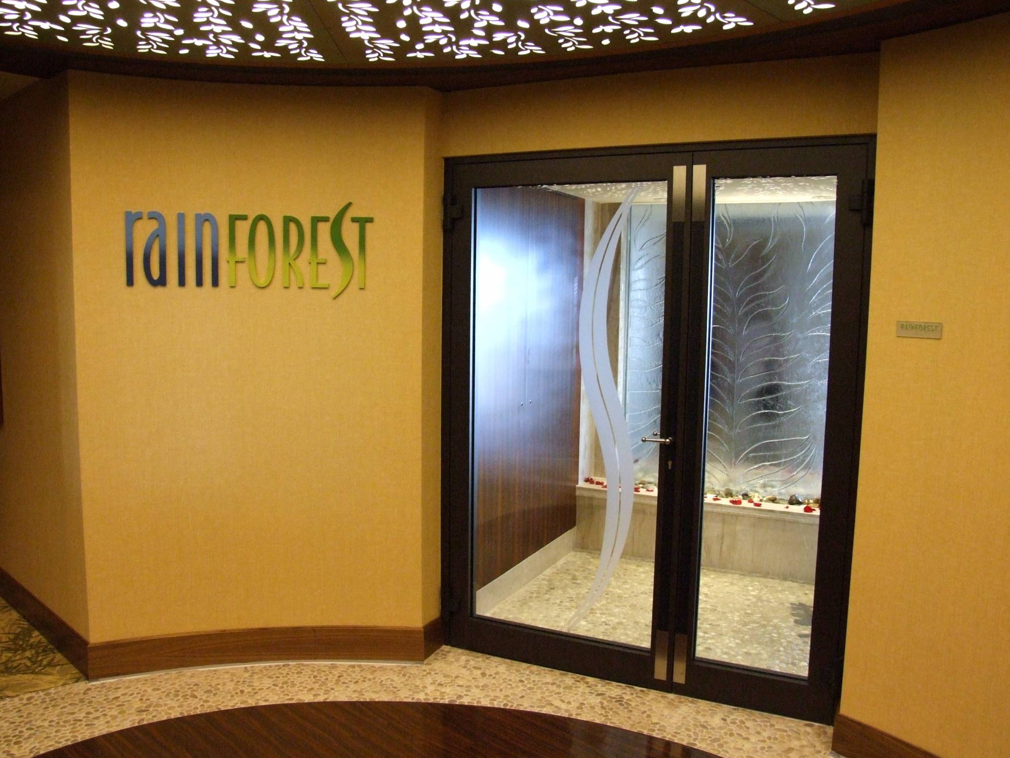 Rainforest Room at Senses Spa - Disney Dream