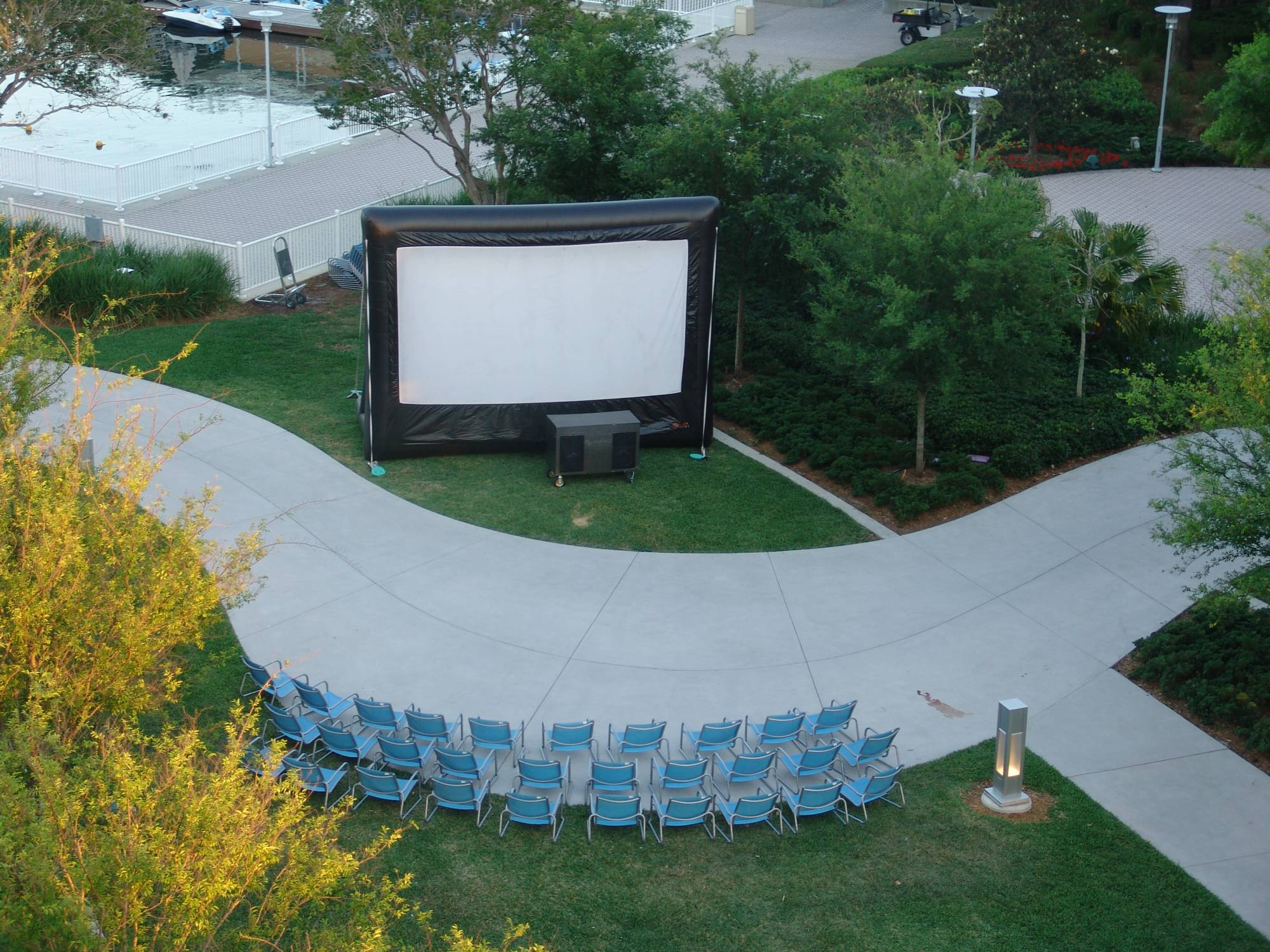 Contemporary - big movie screen