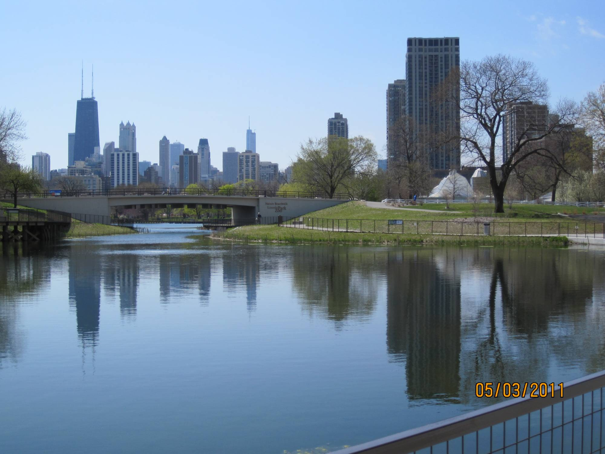 Chicago, Illinois - a View of DT Chicago from the Zoo