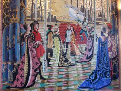 Magic kingdom cinderella castle mural passporter photos for Cinderella castle mural