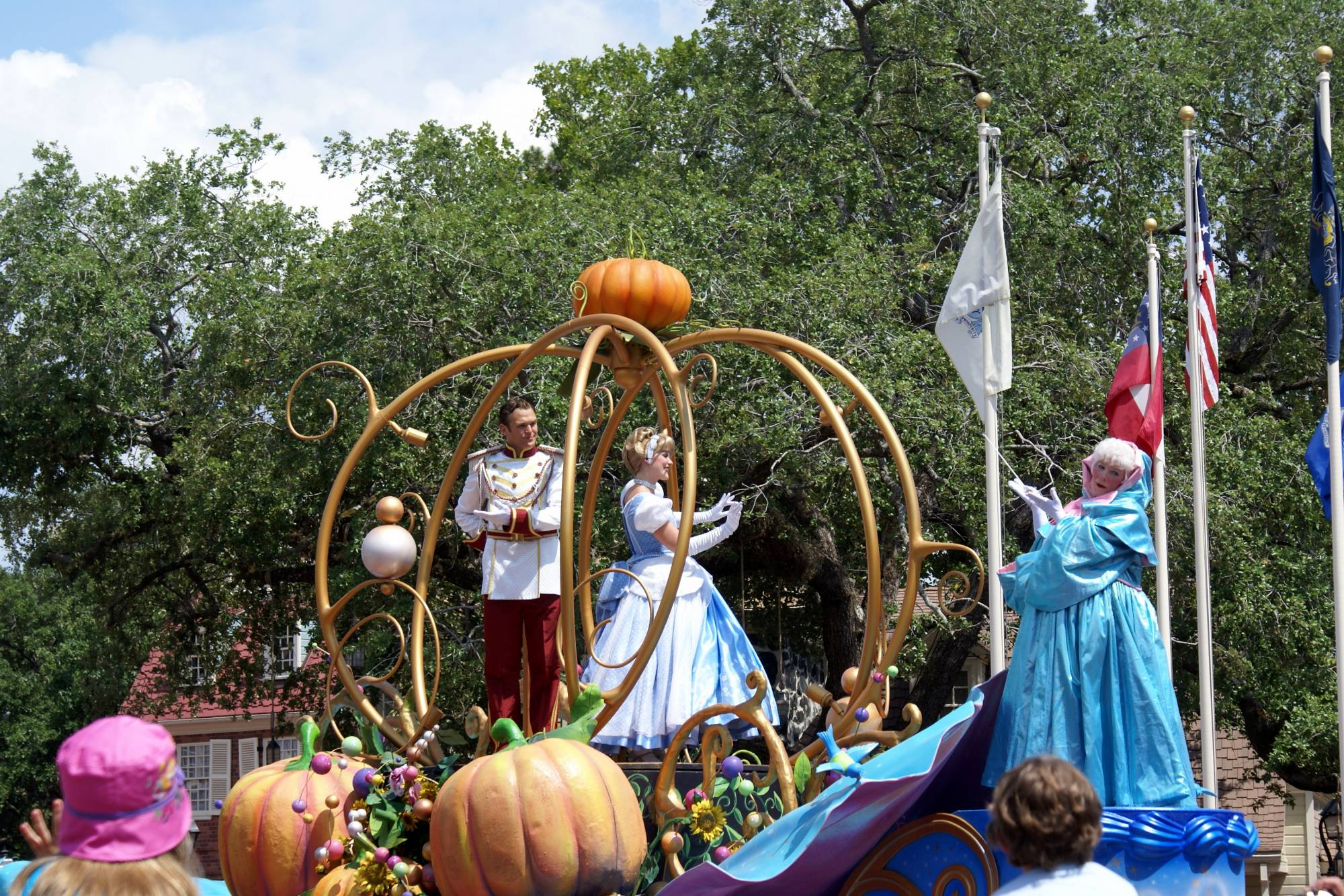 Celebrate a Dream Come True Parade Cinderella and Prince Charming
