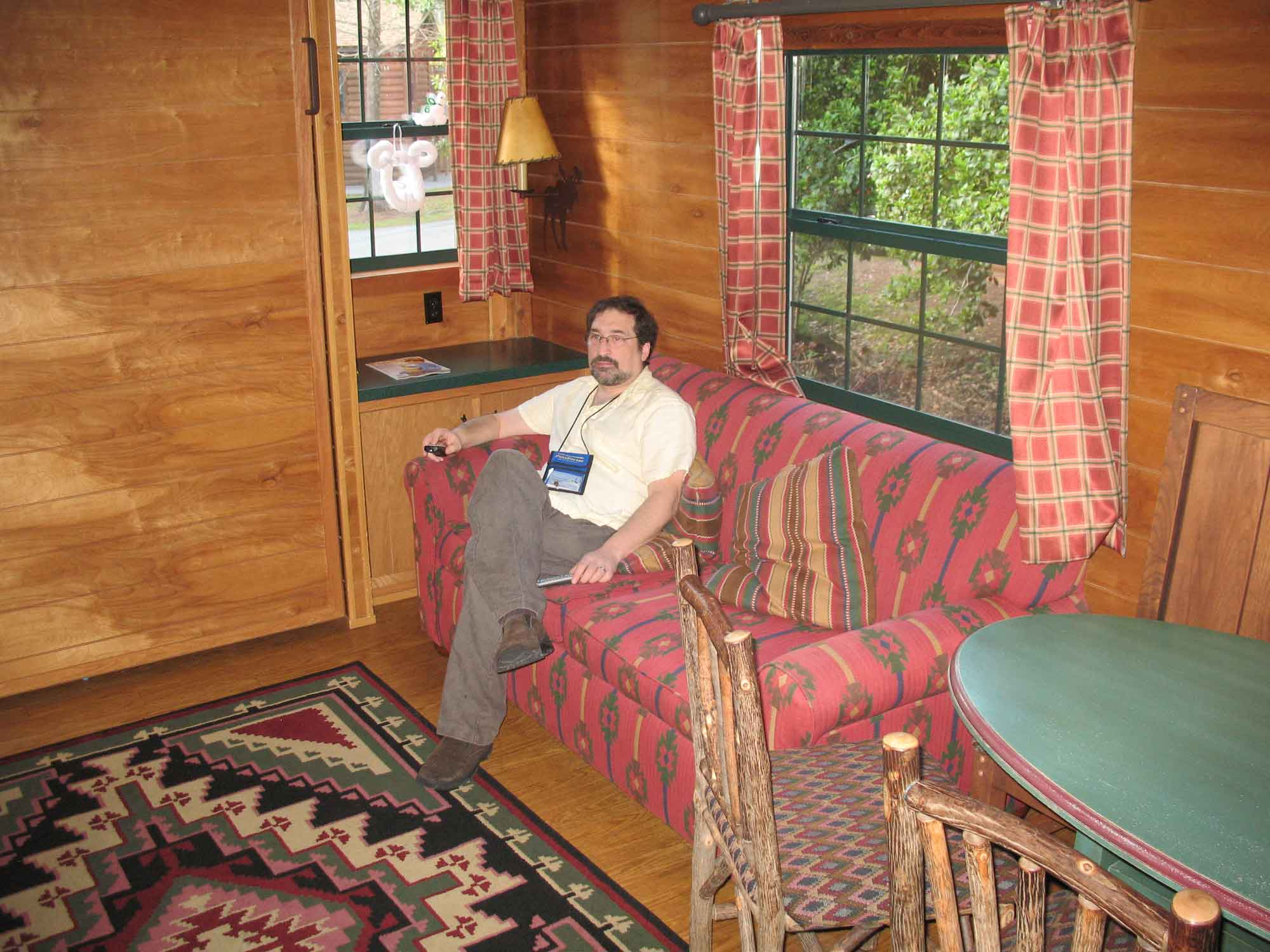 Fort Wilderness Cabin - watching TV