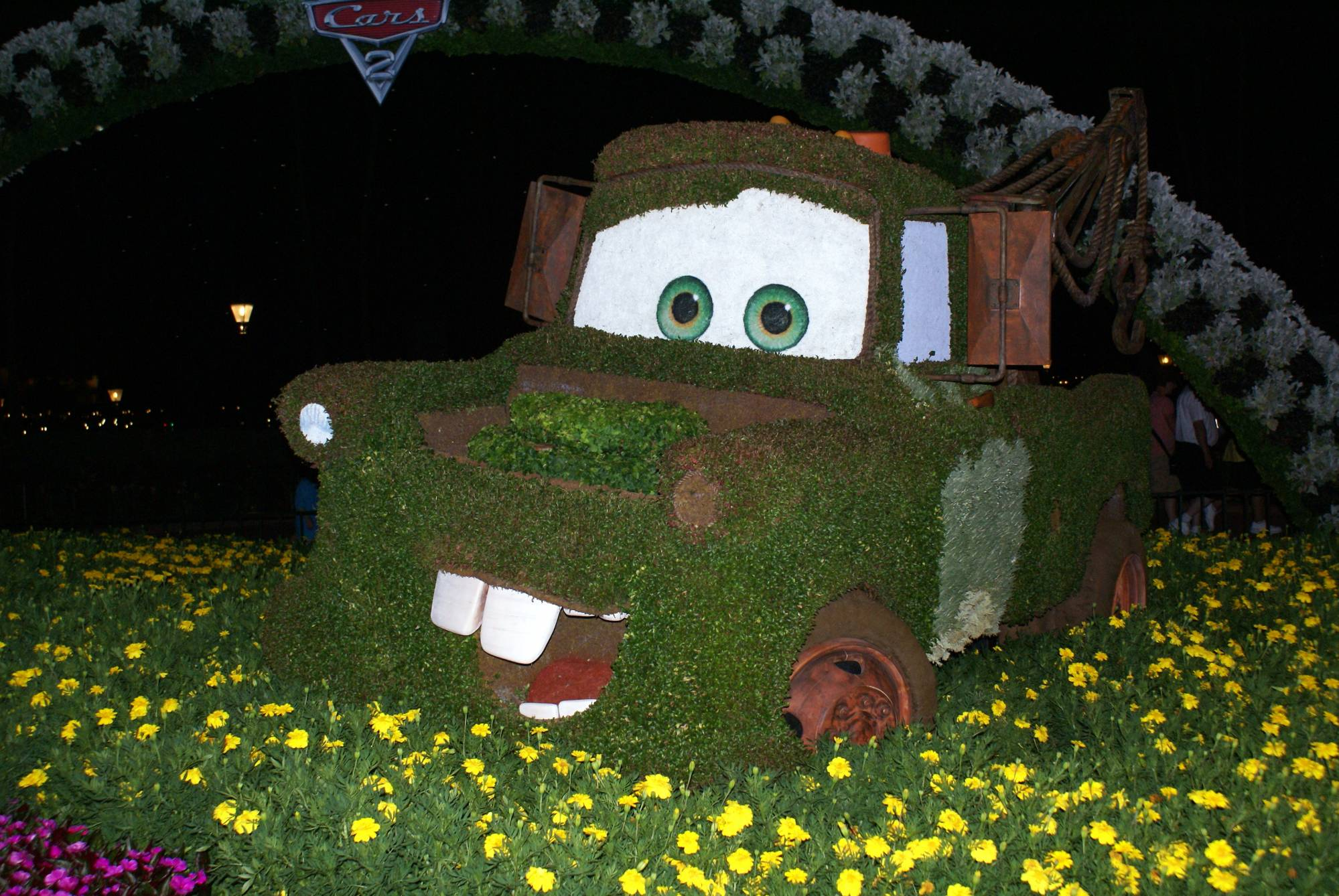 Mater Topiary at Epcot at Night