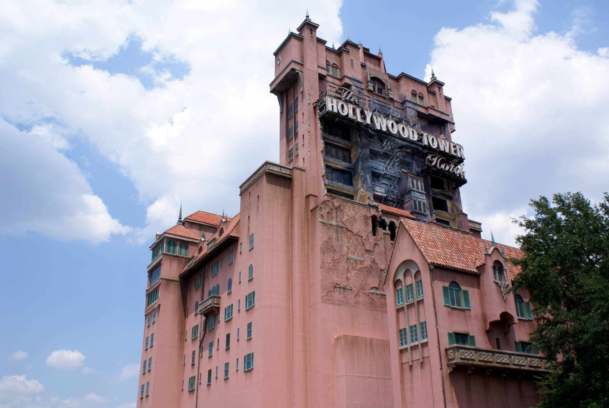 Cool Back View of Tower of Terror