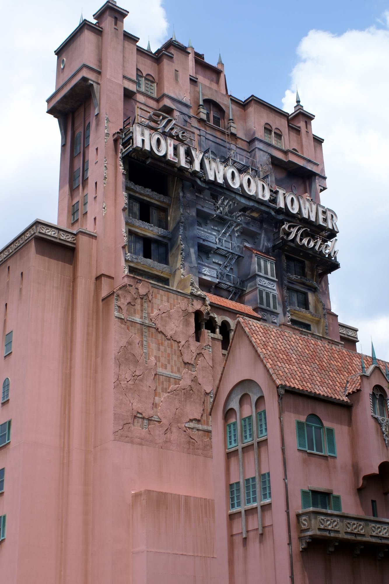 Cool Back View of Tower of Terror 2